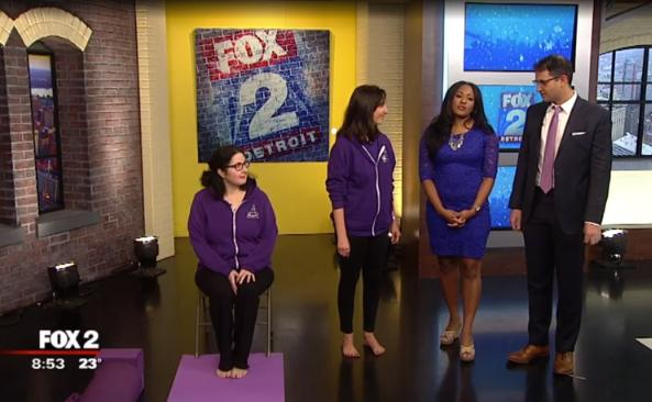 Yoga Moves MS on Fox 2 News, November 2018