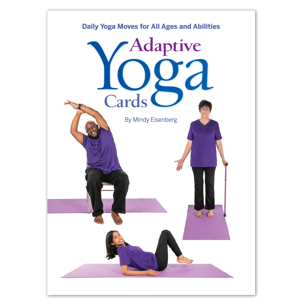 printed cards of yoga moves for those with MS, Parkinson's, and disabilities