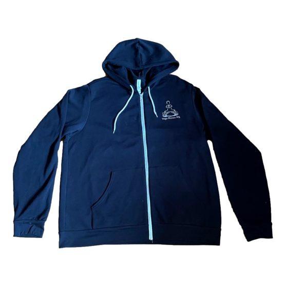 Black Zip-Up Hooded Sweatshirt by Bella