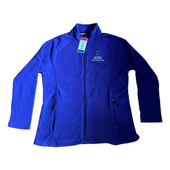 Purple Full-Zip Fleece Jacket by Clique