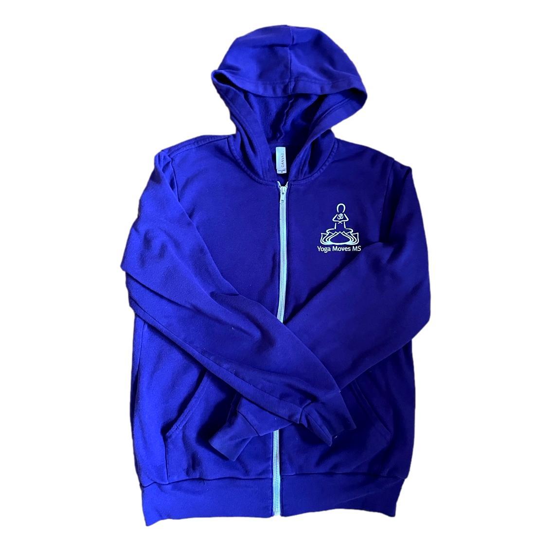 Purple Zip-Up Hooded Sweatshirt by Bella