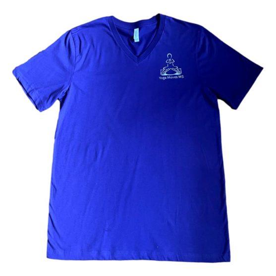 Purple V-Neck Short Sleeve T-Shirt